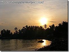 sunrise di desa Sumur